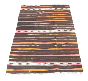 38337 Nomadic Brown Wool Kilim 6'x8'11
