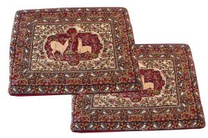Fine collector item pair of Persian pillows-3