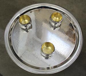 silvercup with 12 small Cups -  13