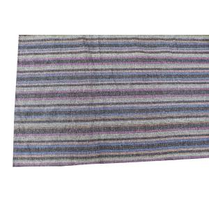 61640 Striped Persian Kilim Rug - 8′6″ × 9′9″