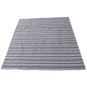 61640 Striped Persian Kilim Rug - 8′6″ × 9′9″