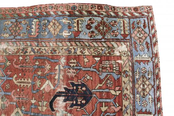 61383A Late 19th century Antique Persian Heriz - 7'1