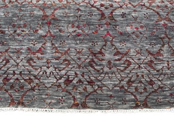 61422 Hand Made Soft Melody SM-63349 Wool Grey Red 8'11