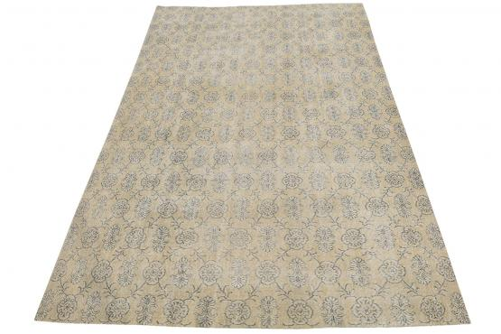 38275 Vintage Turkish Hand-Knotted 7'3