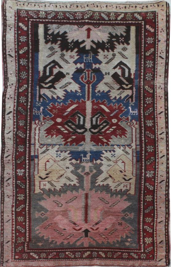 39174 - Antique Shirvan 4.3x8.5