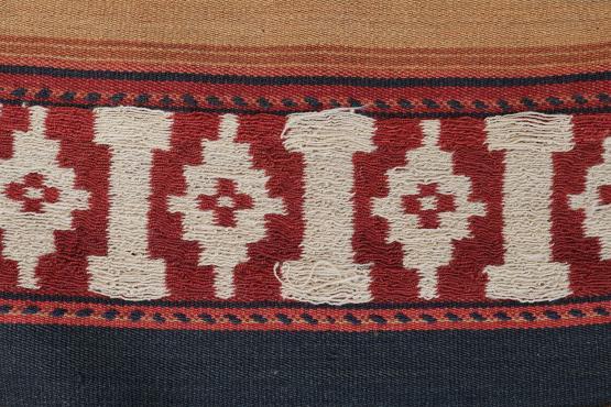 39453 Vintage Afghan Flat-Weave Kilim Rug Size 9'6