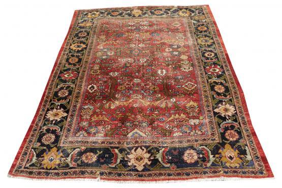 52017C Antique Persian Senneh Baft Tabriz 10.7x17