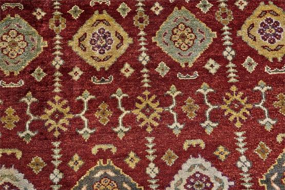 58056 Hand Knotted Rug Color Red Size 5'6x8'6'
