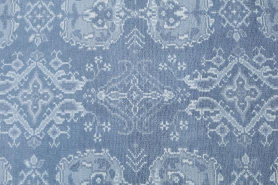 53632 Soft Blue Wool Rug Size 9'x12'