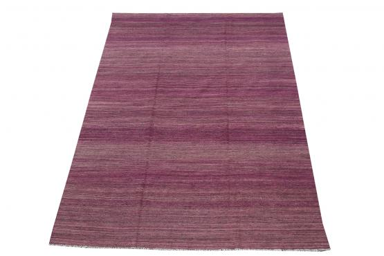 54361 Purple Wool Flatweave Kilim - 6′10″ × 9′8″