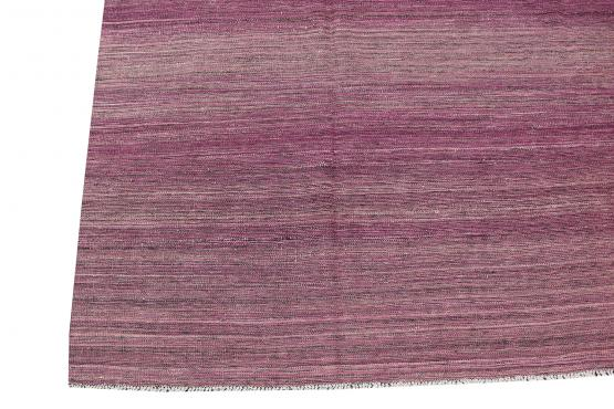 54361 Purple Wool Flatweave Kilim - 6