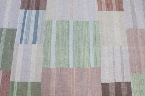 54368 One of a kind modern Kilim 8'7