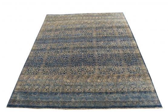 57136 Hand knotted Wool and Bamboo silk 7'10