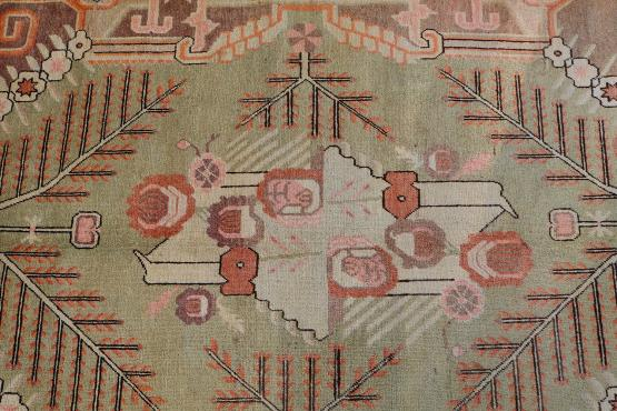 Antique Uzbek Hand Knotted Rug Size 8'10