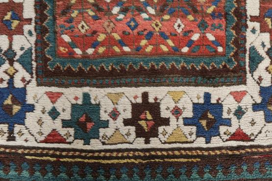 57313 Antique Western Iran Persian Turdish Rug
