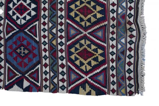 57633 Antique Caucasian Kilim 4.8x9.3