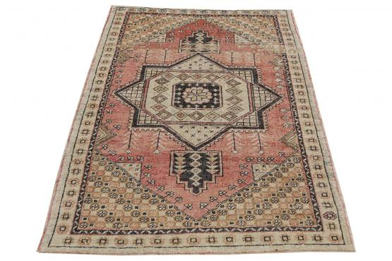 57748 Turkish Boho Rug - 4′4″ × 5′11″
