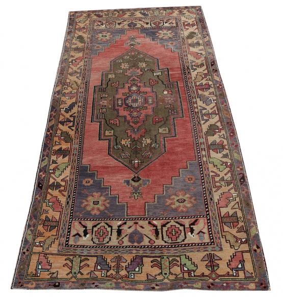 Vintage Turkish Tribal Rug