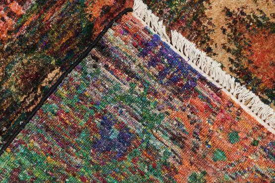 58418 Silk Multi Color Rug 9'9