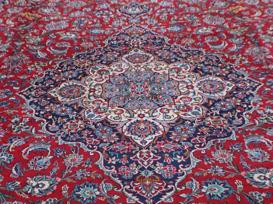 C58521 Old Persian Kashan carpet  13'7