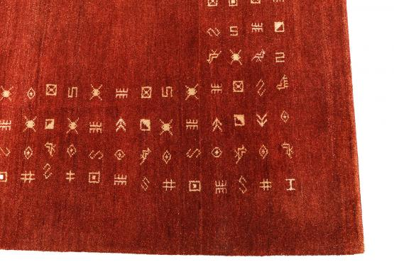 58561 Gabbeh design wool rug 9'10