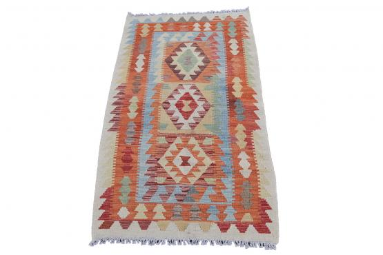 58646 Afghani Dyed Kilim Rug - 2′8″ × 4′7″
