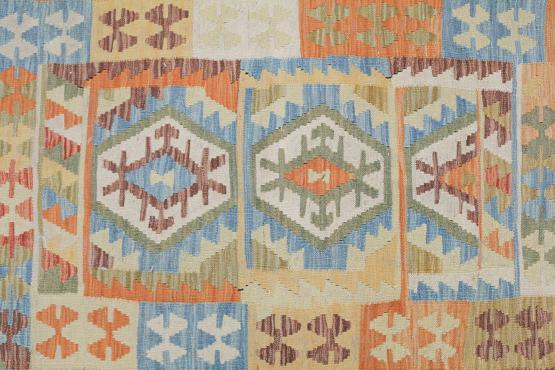 58665 Afghani Dyed Wool Rug - 3