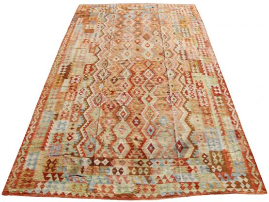 58680 Afgan kilim Oversize Kilim 10'x15'7