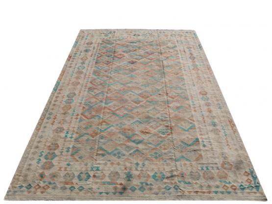 58701 Afgan kilim Oversize Rug 9'6