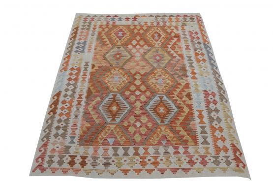 58709 Handmade Dyed Kilim Rug- 5′2″ × 6′5″