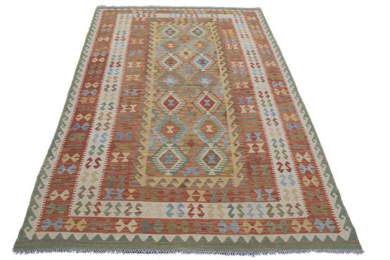 58713 Afghani Flatweave Kilim 6'6