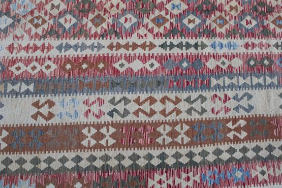 58717 Flatweave multi color Kilim 9'8