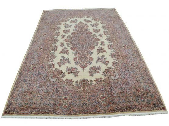58912 Wool old Karastan carpet 11'4