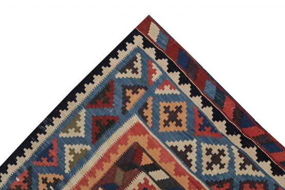 58942 Antique Gashghai Kilim Rug-5'7