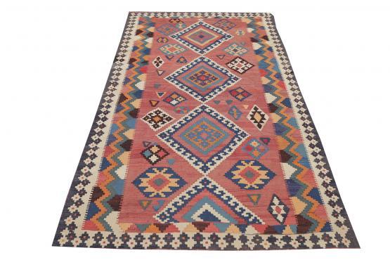 58945 Old Persian Kilim 4'10