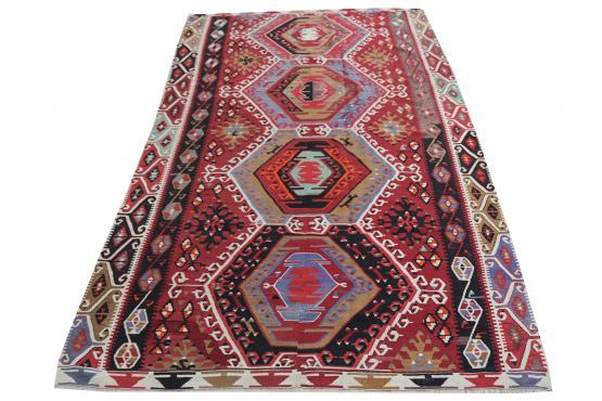 58949 Antique Turkish Kilim 5.2x8.7