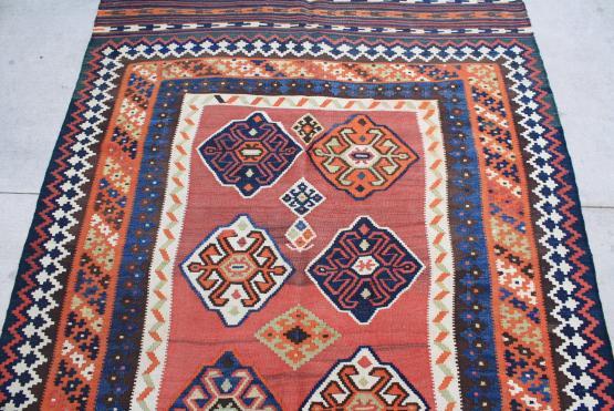 58959 Old Persian Kilim 5'3