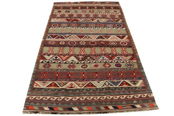58962 Vintage Persian Kilim 4'6
