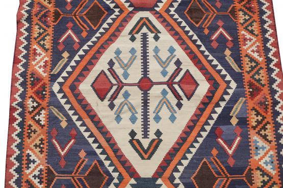 58963 Persian Gasghgai Kilim Rug-5