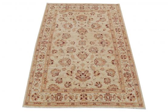 59044 Hand-Knotted Pakistani Rug  4′2″×5′8″
