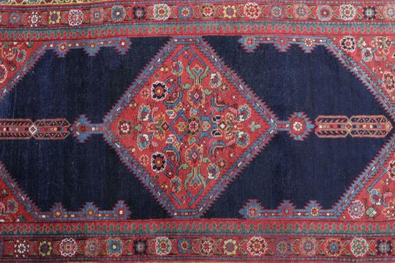59318 Antique NorthWest Persian Runner Rug Size 16'6