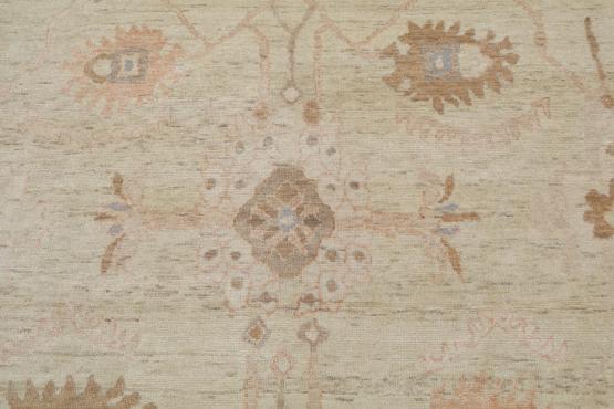 59412 Wool Oushak Rug Size 9'1