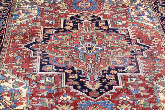 Old Herzi Persian Rug Size 8'8