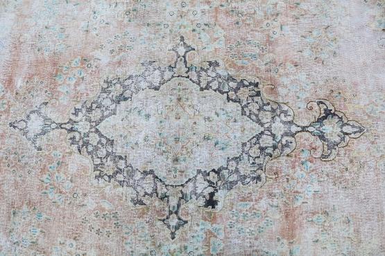 60319 Vintage Persian Kerman Rug Size 10'x12'4