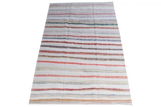 60340 Antique Turkish Handmade Flatweave Rug Size 9'10