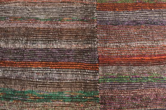 60341 Vintage Turkish Colorful Hand-Made Rug - 7