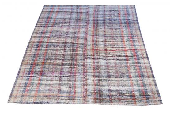 60342 Antique Turkish Handmade Flatweave Rug Size 11'6