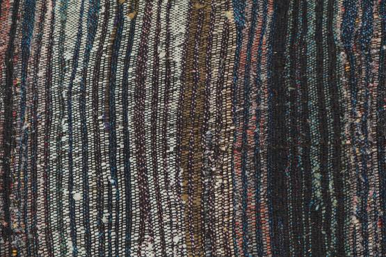 60344 Antique Turkish Handmade Flatweave Rug Size 8'10