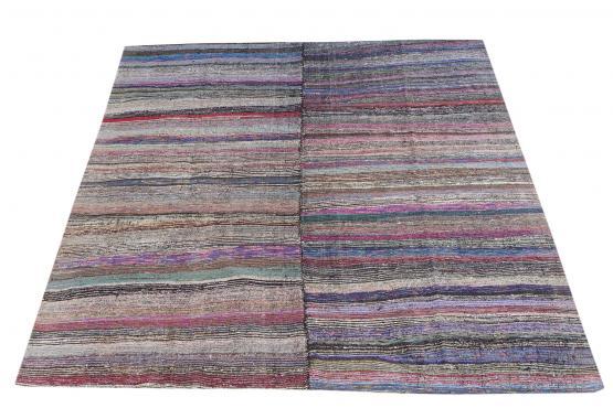 60345 Antique Turkish Handmade Flatweave Rug Size 10'x8'10