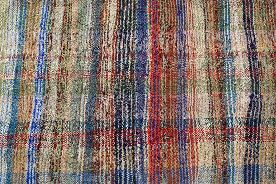 60348 Modern Multi Color Turkish Handmade Flatweave Size 10'5